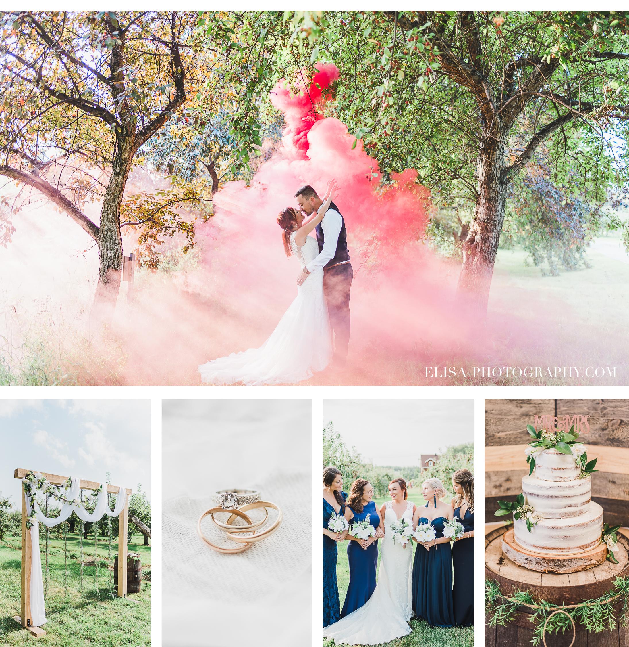 smoke bomb a un mariage